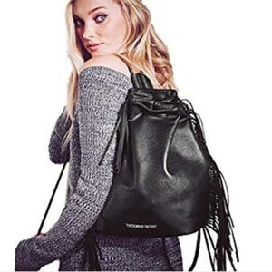 NWT Victoria's Secret Fringed Back Pack Tote/Purse